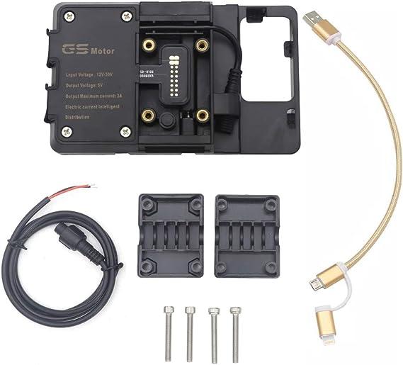 USB Charger Mobile Phone Holder Navigation Bracket For BMW 800GS Honda CRF1000L