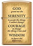 God Grant me the Serenity Prayer Solid Brass Zippo Lighter