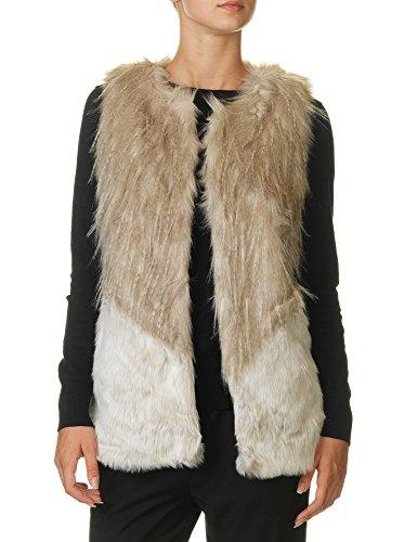 Only Women's Tilde Fur Mix Waistcoat Women's Faux Fur Gilet Beige