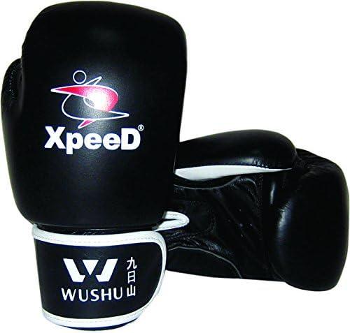 Xpeed中国武術でボクシンググローブ10オンスブラックレザー