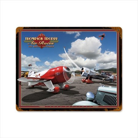Past Time Signs LG001 Air Races 1933 Aviation Vintage Metal Sign from Past Time Signs