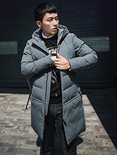 Inverno Uomini Con Imbottito Cappuccio Con Grigio Addensare Caldo Casuale Giacca Cotone Capispalla 3xl M Zip HpUpxg4
