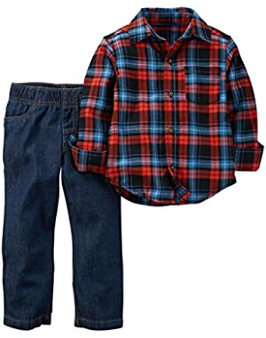 Carter's Baby Boys' 2 Piece Plaid Top Set (Baby)