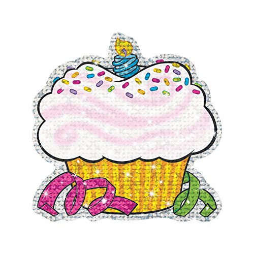 TREND enterprises, Inc. Birthday Cupcakes Sparkle Classic Accents, 24 - Cut Sparkle Paper Outs