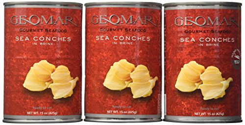 Geomar Gourmet Seafood, Sea Conchs (Caracoles), 15-Ounce Cans (Pack of 3)