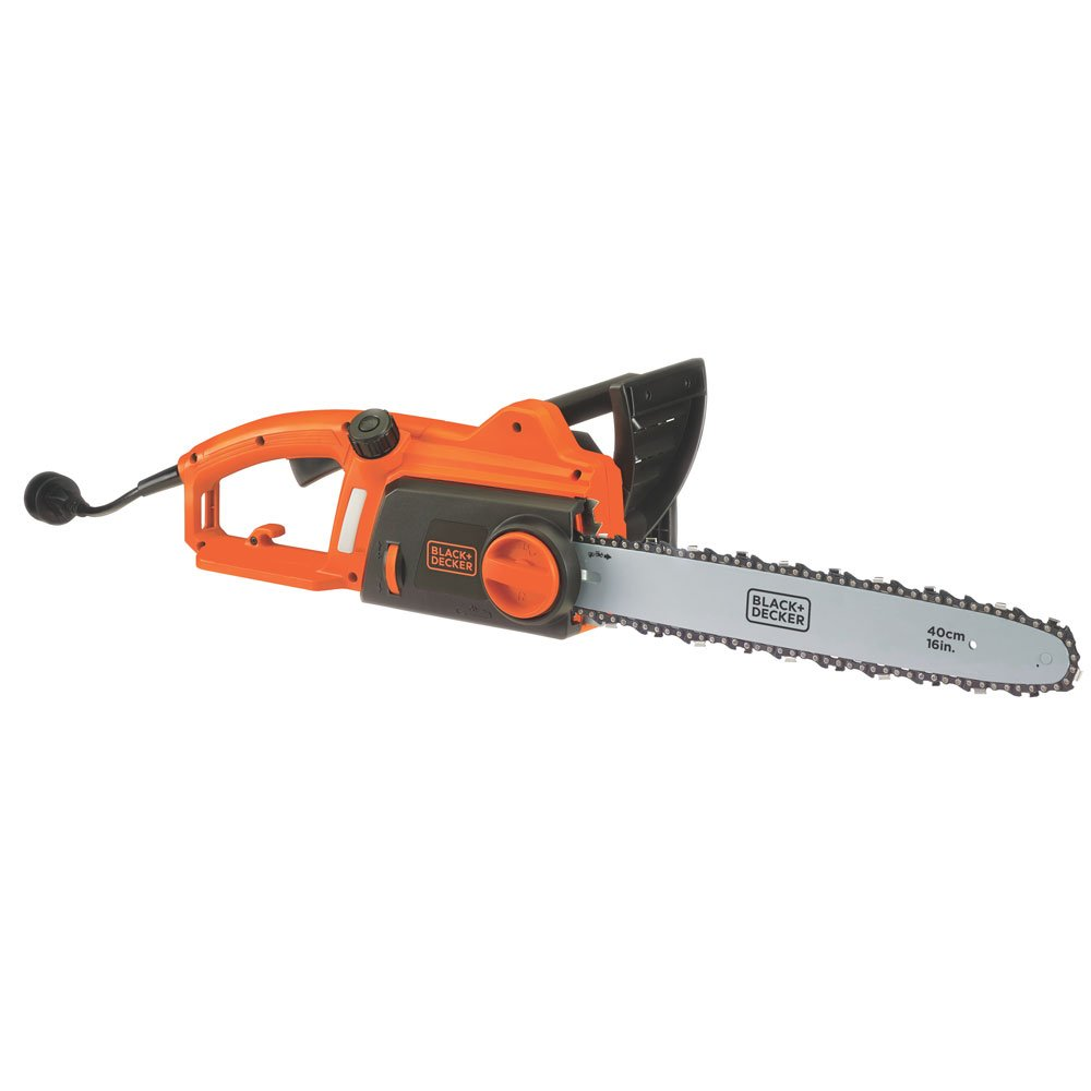 BLACK+DECKER CS1216 12-Amp Corded Chainsaw, 16-Inch