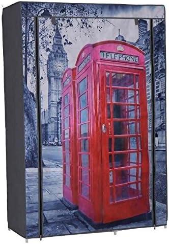 Bedruckt 105 x 45 x 158 cm Nomade Kleiderschrank mit Bezug aus Stoff