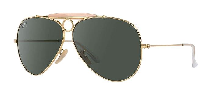 Rayban Aviator - Gafas de sol, 58 mm, color dorado: Amazon ...