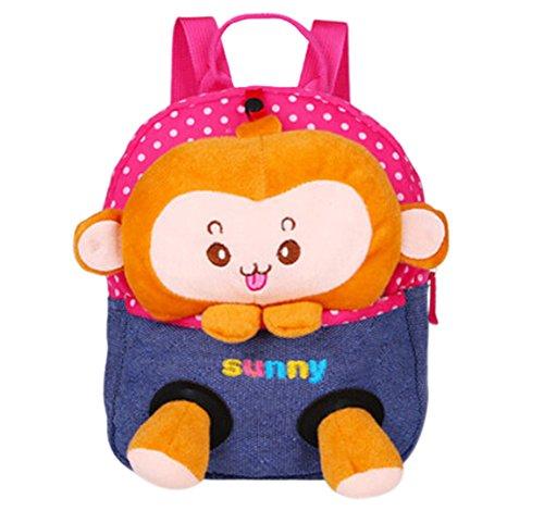 Scheppend Staccabile Bambola Del Fumetto Zaino per bambini,1-3 anni (Scimmia3)