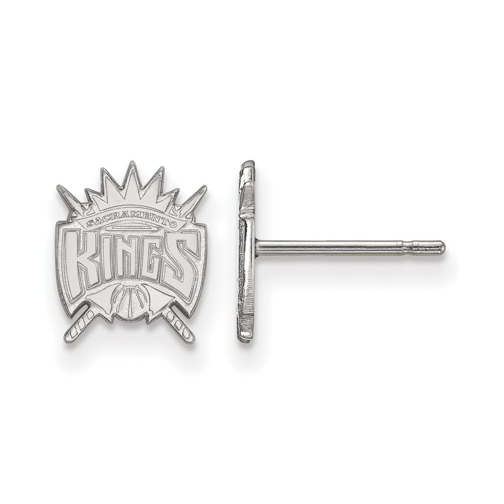 NBA Sacramento Kings X-Small Post Earrings in 14K White Gold