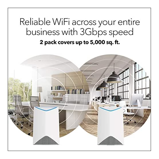 NETGEAR Orbi Pro AC3000 Business Mesh WiFi System, Indoor Expansion, Wireless Access Point (SRS60) 512KYbY2Y L. SS555