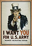 UNCLE SAM I WANT YOU ICONIC USA VINTAGE POSTER ART PRINT 12x16 inch 1121PY