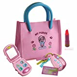 Playkidz My First Purse – Pretend Play Kid Purse Set for Girls with Handbag, Flip Phone, Light Up...