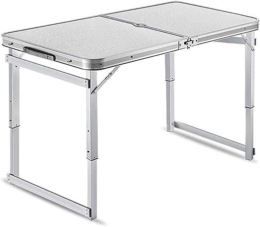 BFQY a Mesa Plegable, al Aire Libre, estacas portátiles, Mesa Familiar Promocional y sillas para mesas pequeñas para Comer: Amazon.es: Jardín
