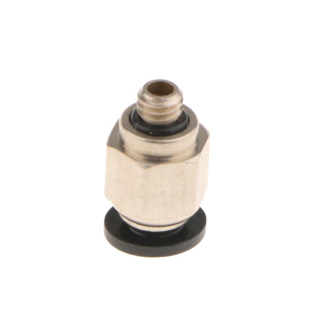 Homyl 1x PC6 zu M6 Pneumatische Fitting M/ännlich 6mm Rohr PTFE Schlauch f/ür Bowden-Extruder des 3D-drucker