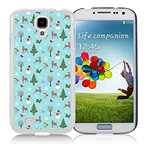 Fashion Style Samsung S4 TPU Protective Skin Cover Christmas Animals White Samsung Galaxy S4 i9500 Case 1