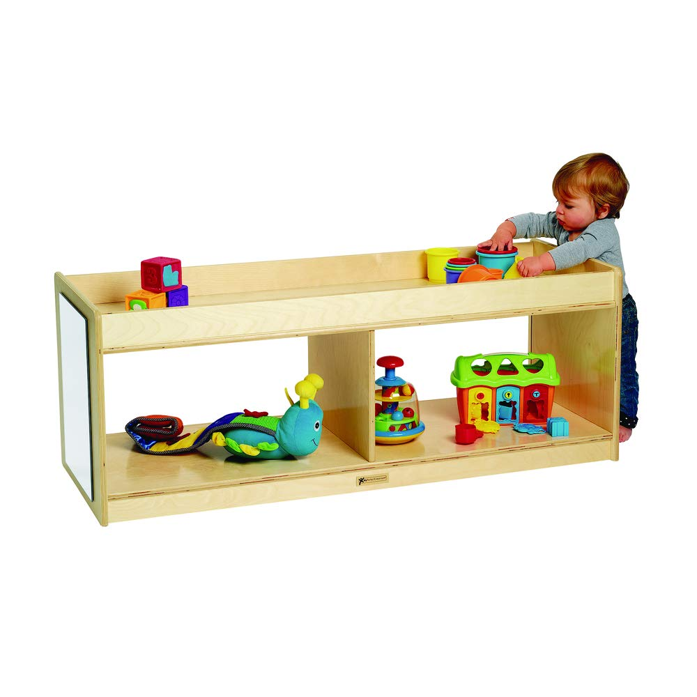 MyPerfectClassroom Toddler Storage with Clear Back & Mirrors (Item # MPC4003)