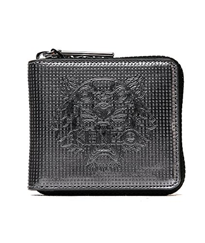 042db080ebe8 Wiberlux Kenzo Men's Tiger Detail Zip-Around Mini Wallet One Size Silver -  Neon Lining. by wiberlux