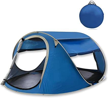Azul al aire libre 3-4 personas Tienda de campaña automática ...