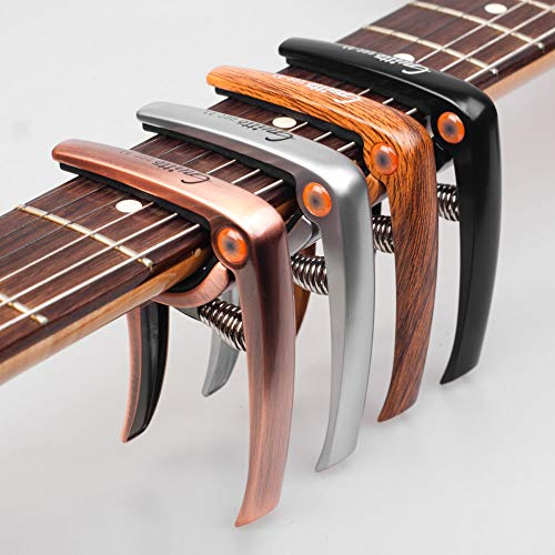 Quick-Release-Guitar-Capo-Clamp-Zinc-Alloy-with-Bridge-Pin-Puller-for-Acoustic-Electric-Guitars-Bass-Ukulele