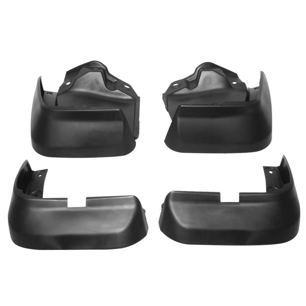 Splash Guard Compatible With 2012-2014 Honda Civic 4Dr Factory Style PU Black Bodykit by IKON MOTORSPORTS 2013