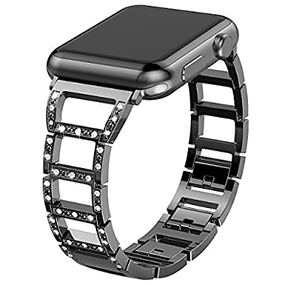 Valband For Apple Watch Band 42mm, Metal Bling Wristband Replacement Strap for Apple Watch Series 3 Series 2 Series 1 Nike+ Sport Edition