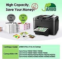 JARBO 5 Color Compatible Canon PGI-570 XL CLI-571 XL Cartuchos de ...