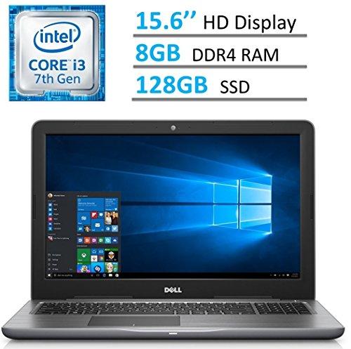 D (1366 x 768) LED-Backlit Laptop PC | Intel i3-7100u 2.4 GHz | 8GB DDR4 RAM | 128GB SSD | HDMI | Bluetooth | MaxxAudio | Intel HD Graphics 620 | Windows 10 | GRAY (128 Gb Ssd Dvd)