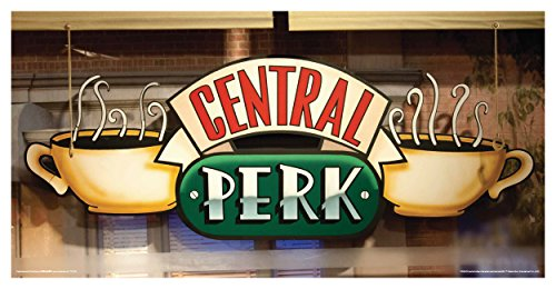 Friends Central Perk Cafe Window Coffee Cup Logo TV Television Show Poster Print 12 by 24