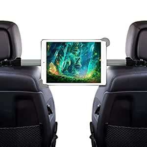 """Okra® Universal 360° Degree Rotating Tablet Car Headrest Grip Mount (HRM3) for iPad, Galaxy, & all Tablets up to 11"""" (New 2016 Version) [Retail Packaging]"""