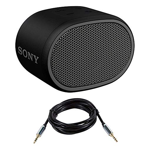 Sony XB01 Bluetooth Compact Portable Speaker Black (SRSXB01/B) with 6ft 3.5mm cable