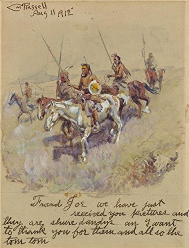 'Charles Marion Russell,Letter With American Indians,1912' O