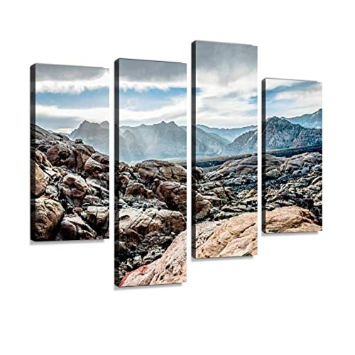 YKing1 red Rock Canyon Rock climbings and Pictures Wall Art Painting Pictures Print On Canvas Stretched & Framed Artworks Modern Hanging Posters Home Decor 4PANEL (Hotel Deals In Las Vegas May 2015)