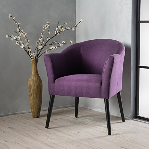 Charmaine Plum Fabric Arm Chair (Plum Chair Accent)
