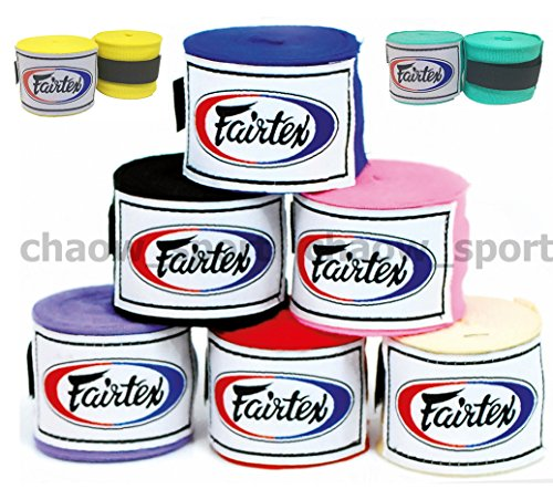 Fairtex HW2 Handwraps New Color Full-Length Elastic 100% Cotton - Length about 180 Inches