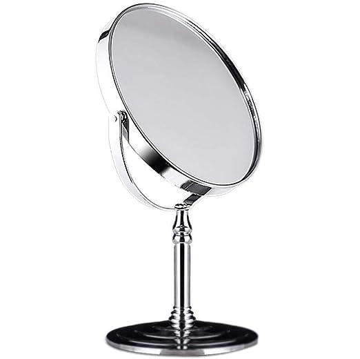 MYYDD Espejo para Maquillaje, Lupa de Doble Cara, Espejo de Mesa ...