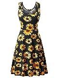 FENSACE Women's Floral Sleeveless Simple Dresses for Women