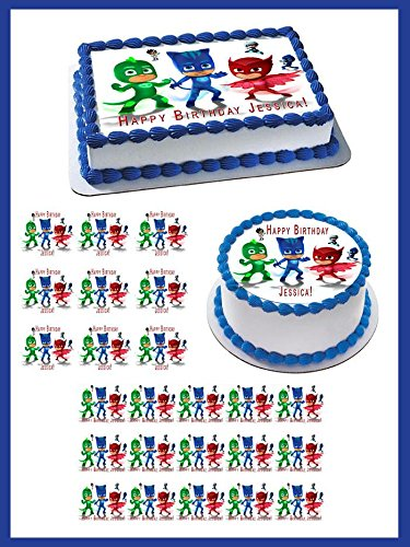 "PJ Masks (6) - Edible Cupcake Toppers - 2"" cupcake (12 pieces"