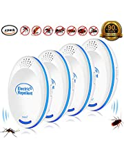 Mosquito Repellent plug in - 2019 Ultrasonic Pest Repeller Set of 4-Packs Electronic Plug in Repellent Indoor for Flea,Insects, Mice,Spiders,Ants,Rats, Roaches,Bugs,Non-Toxic,Humans & Pets Safe
