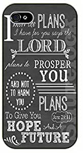 iPhone 5C Bible Verse - For I know the plans I have for you says the Lord. Jeremiah 29:11 - black plastic case / Verses, Inspirational and Motivational