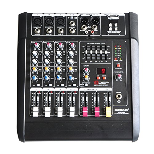 (Freeboss Pt5-usb 5 Channel Powered Mixer Amplifier 16 DSP with Usb)