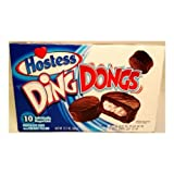 Hostess Ding Dongs Chocolate Cake with Creamy Filling, 12.7 Ounce - 6 per case.