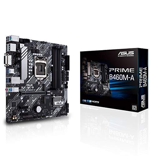 ASUS PRIME B460M-A Intel B460 (LGA 1200) mATX 2x Aura Sync RGB Header Dual M.2 DDR4 2933MHz HDMI DP USB 3.2 Gen 1…