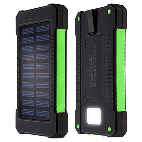 DealMux Cargador Solar, 10000 mAh Dual USB cargador de ...