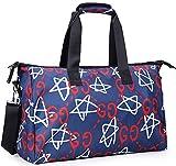 Unisex Big Handbag Tote Shoulder Crossbag Travel 3D Fashion Duffel Bag 19 Inches (Stars) For Sale