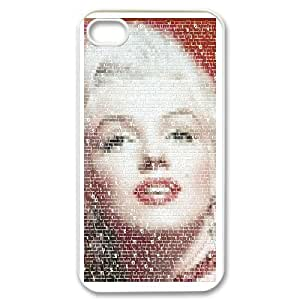 Marilyn Monroe & Quotes for iPhone 4,4S Phone Case & Custom Phone Case Cover R88A650577