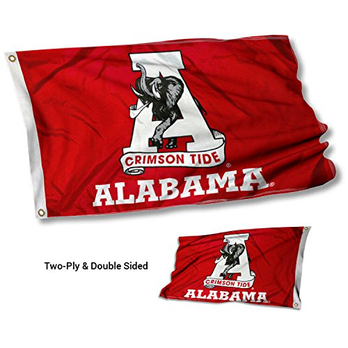 Alabama Crimson Tide Vintage Double Sided Flag