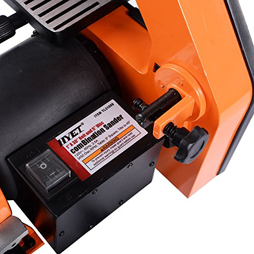 Goplus Belt and 5-Inch Disc Sander, 1 x 30-Inch, 1/3HP Polish Grinder Sanding Machine by Goplus (Image #4)