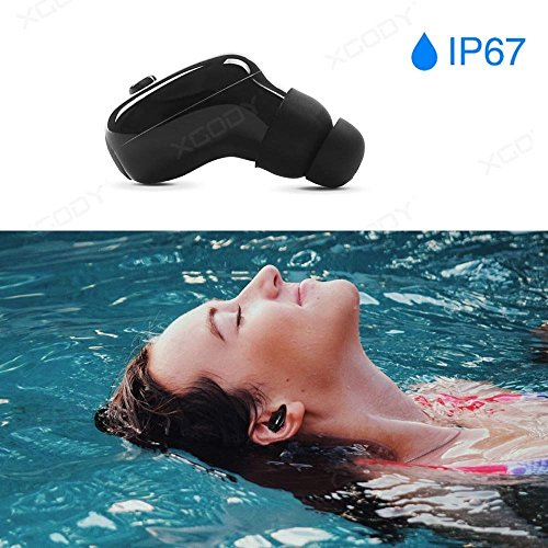 MAZIMARK--IP67 Waterproof Bluetooth 4.2 Headsets for Swimming Wireless Headphone Earpiece
