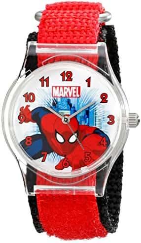 Marvel Kids' W001727 Spider-Man Analog Display Analog Quartz Red Watch